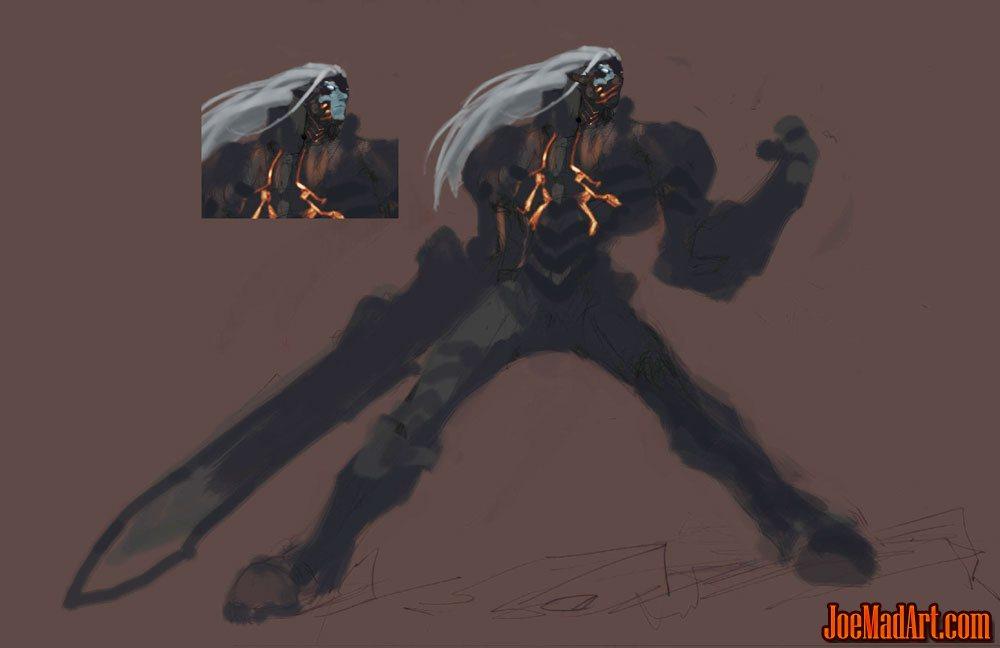 joemadartcom darksiders rejected concept war blue skin