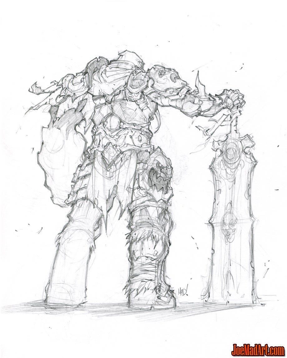 Joemadart Com Darksiders War Concept Art Sketch