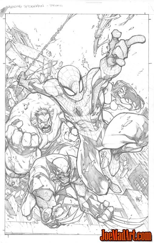 Avenging Spider-Man Volume 1 issue #1 cover (Pencil)