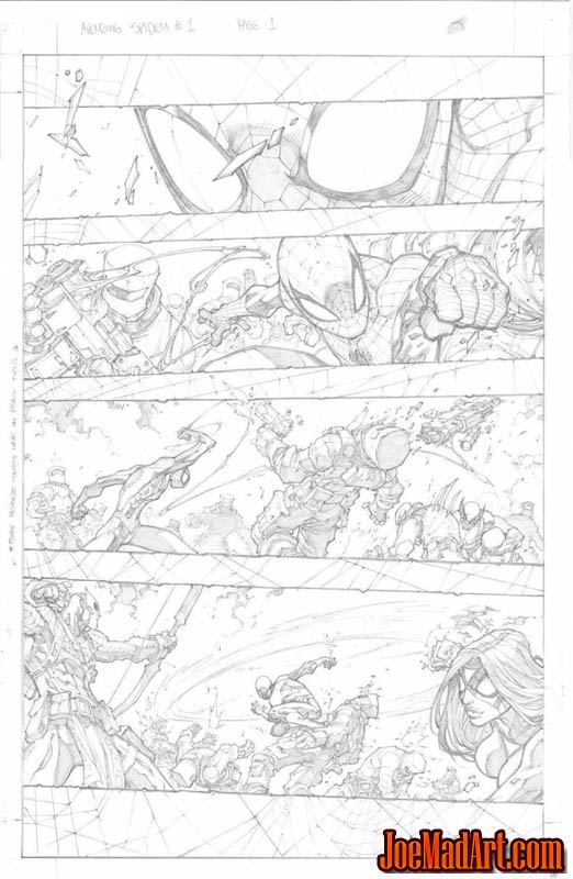 Avenging Spider-Man Volume 1 issue #1 page 1 (Pencil)