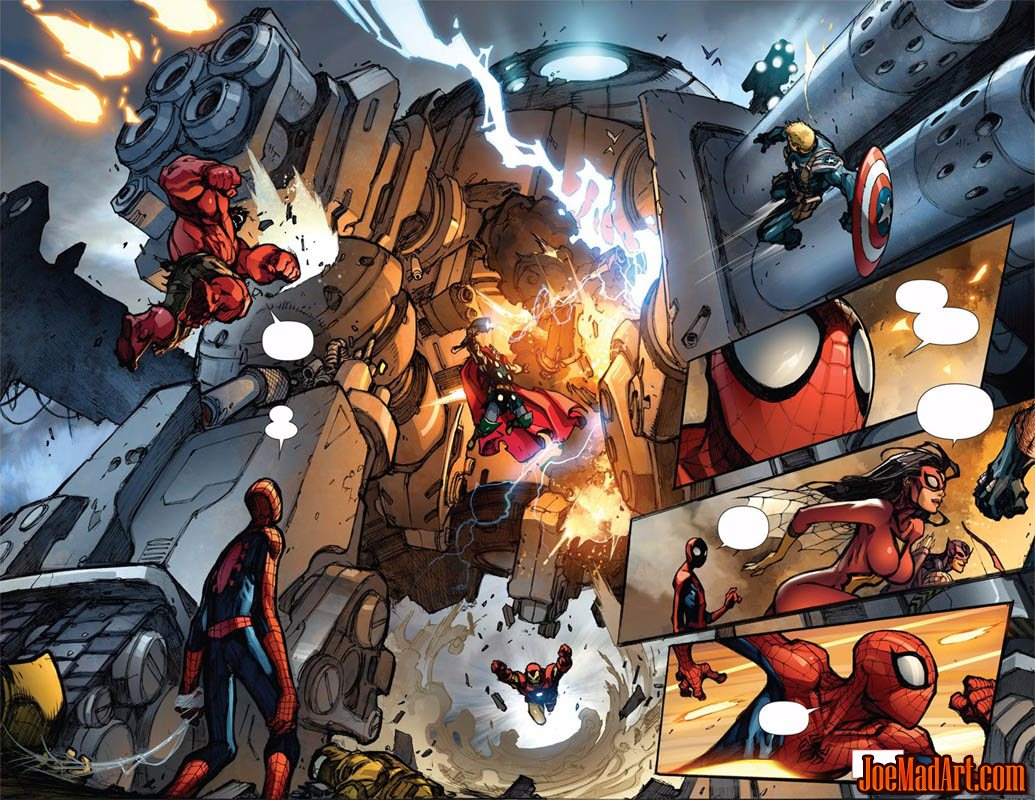 Avenging Spider-Man Volume 1 issue #1 double page 2 and 3  (Color)