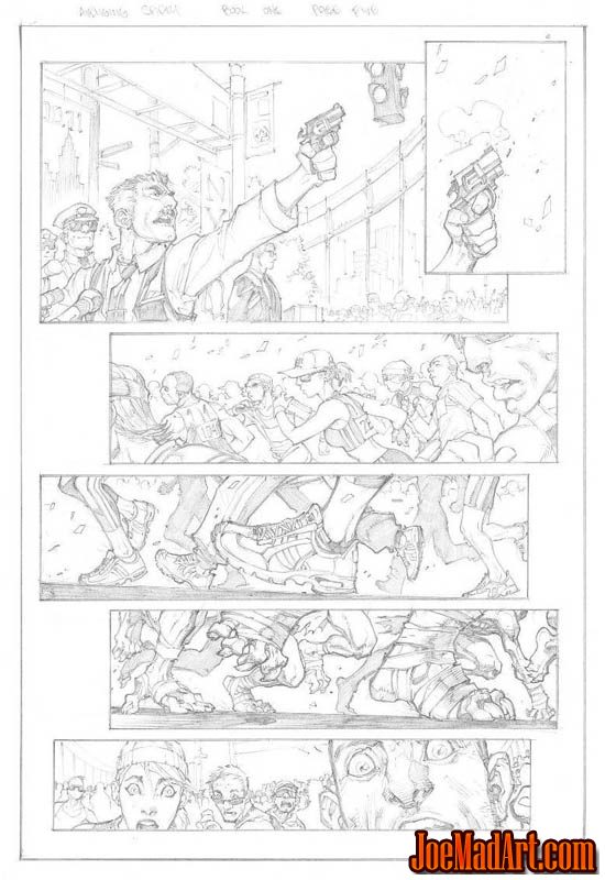 Avenging Spider-Man Volume 1 issue #1 page 5 (Pencil)