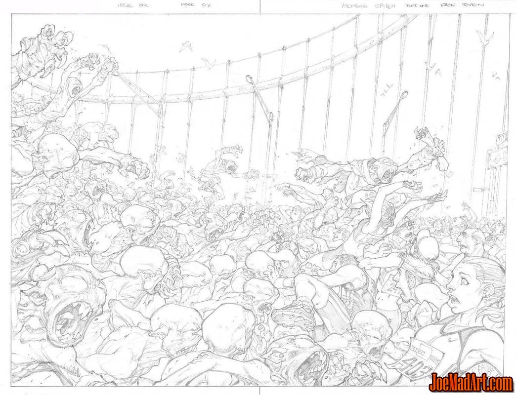 Avenging Spider-Man Volume 1 issue #1 double page 6 and 7 (Pencil)
