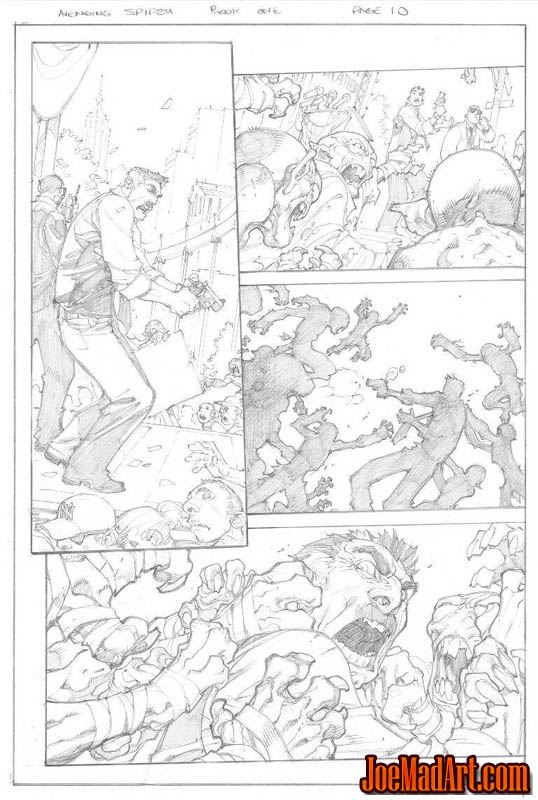 Avenging Spider-Man Volume 1 issue #1 page 10 (Pencil)