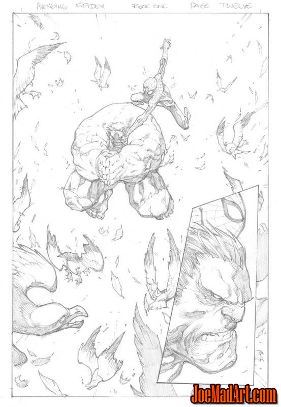 Avenging Spider-Man Volume 1 issue #1 page 12 (Pencil)