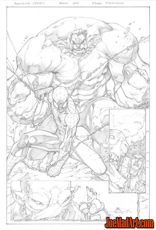Avenging Spider-Man Volume 1 issue #1 page 14 (Pencil)
