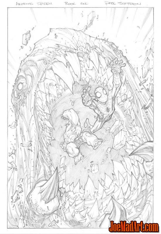 Avenging Spider-Man Volume 1 issue #1 page 16 (Pencil)