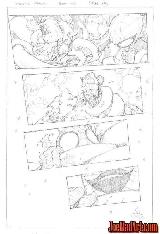 Avenging Spider-Man Volume 1 issue #1 page 18 (Pencil)