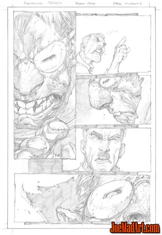 Avenging Spider-Man Volume 1 issue #1 page 20 (Pencil)