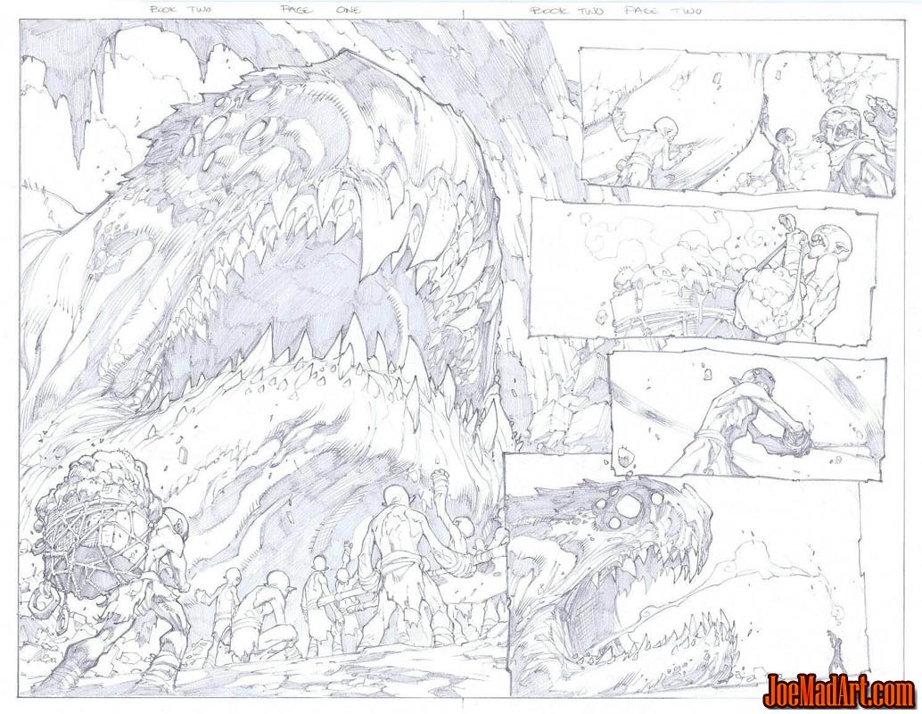 Avenging Spider-Man Volume 1 issue #2 double page 1 and 2 (Pencil)