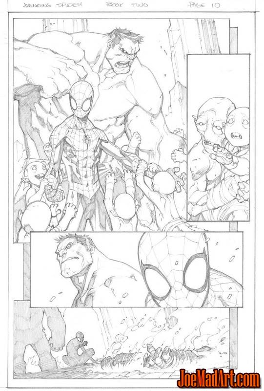 Avenging Spider-Man Volume 1 issue #2 page 10 (Pencil)