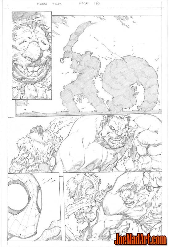 Avenging Spider-Man Volume 1 issue #2 page 18 (Pencil)