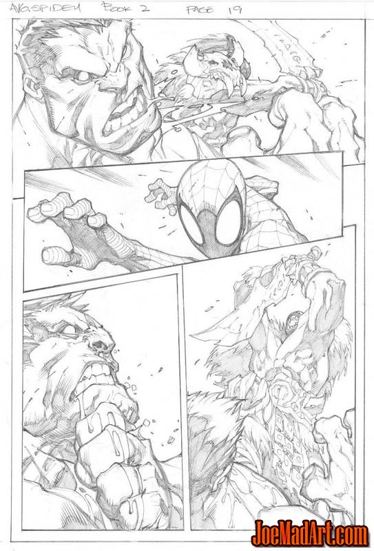Avenging Spider-Man Volume 1 issue #2 page 19 (Pencil)