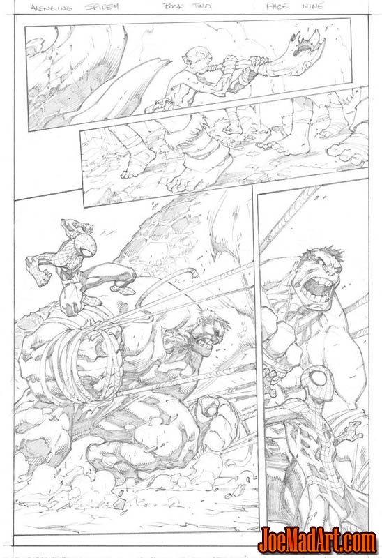 Avenging Spider-Man Volume 1 issue #2 page 9 (Pencil)
