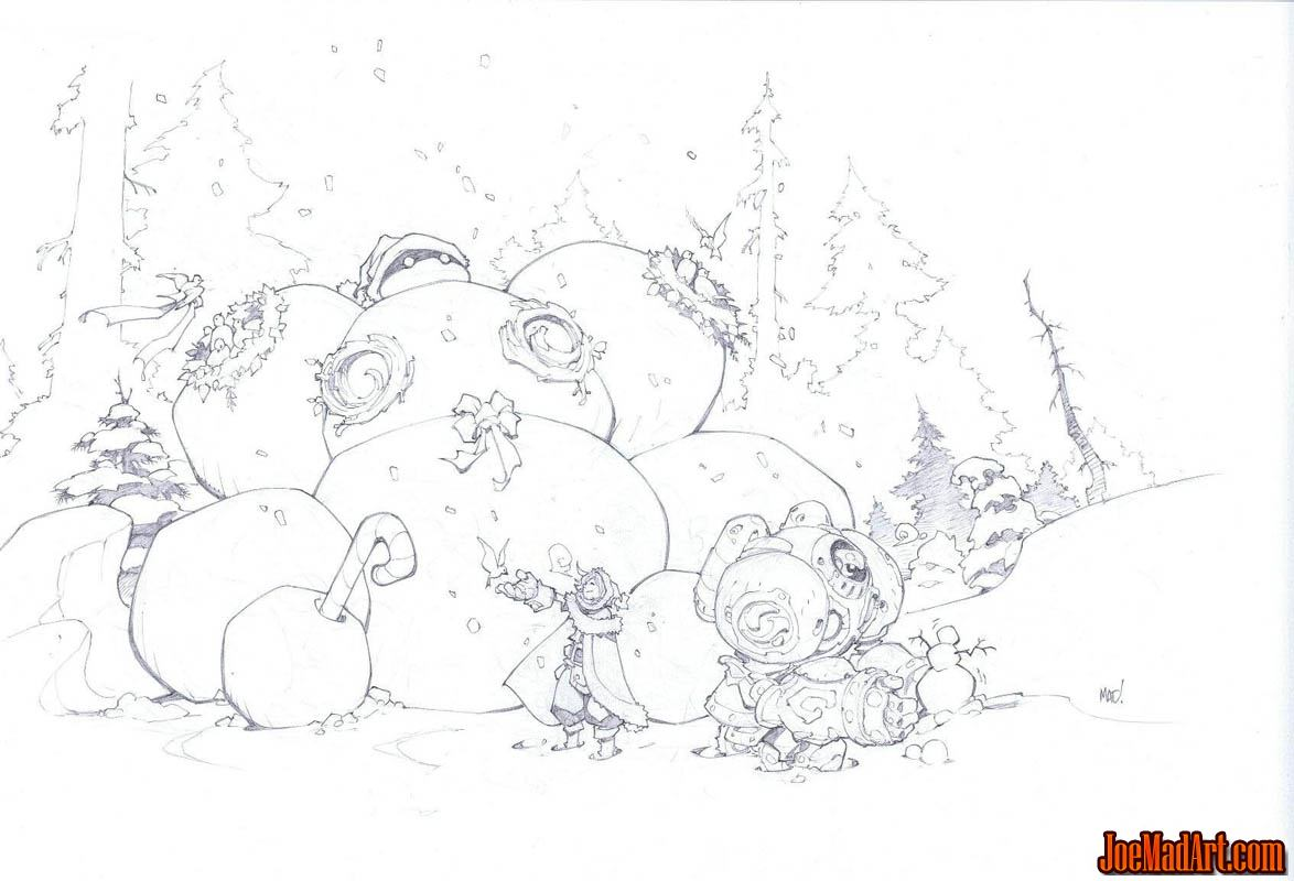 Battle Chasers Christmas card gift 2015 (Pencil)