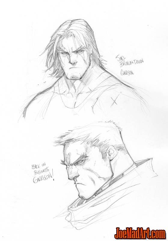 Battle Chasers Anthology Garrison portrait sketchs (Pencil)