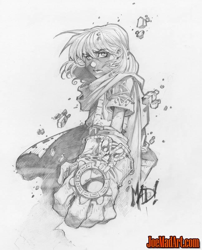 Battle Chasers Anthology Gully sketch (Pencil)