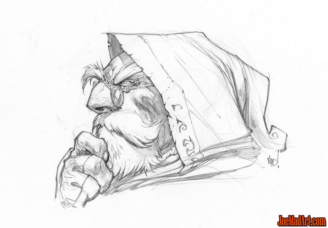 Battle Chasers Anthology Knolan portrait sketch (Pencil)