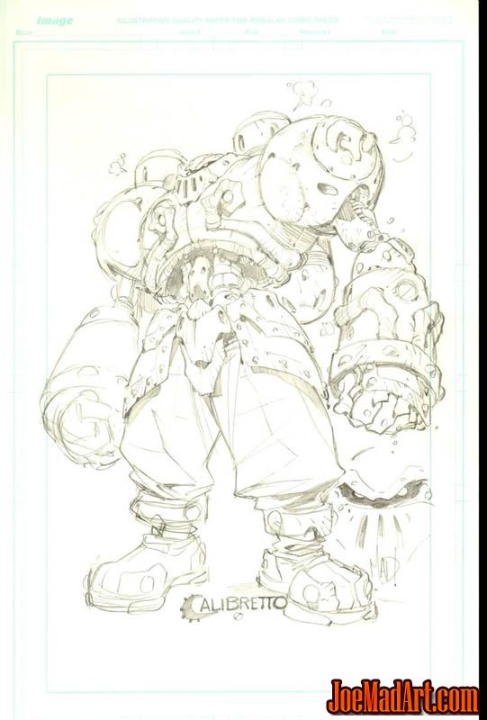 Battle Chasers Calibretto sketch (Pencil)