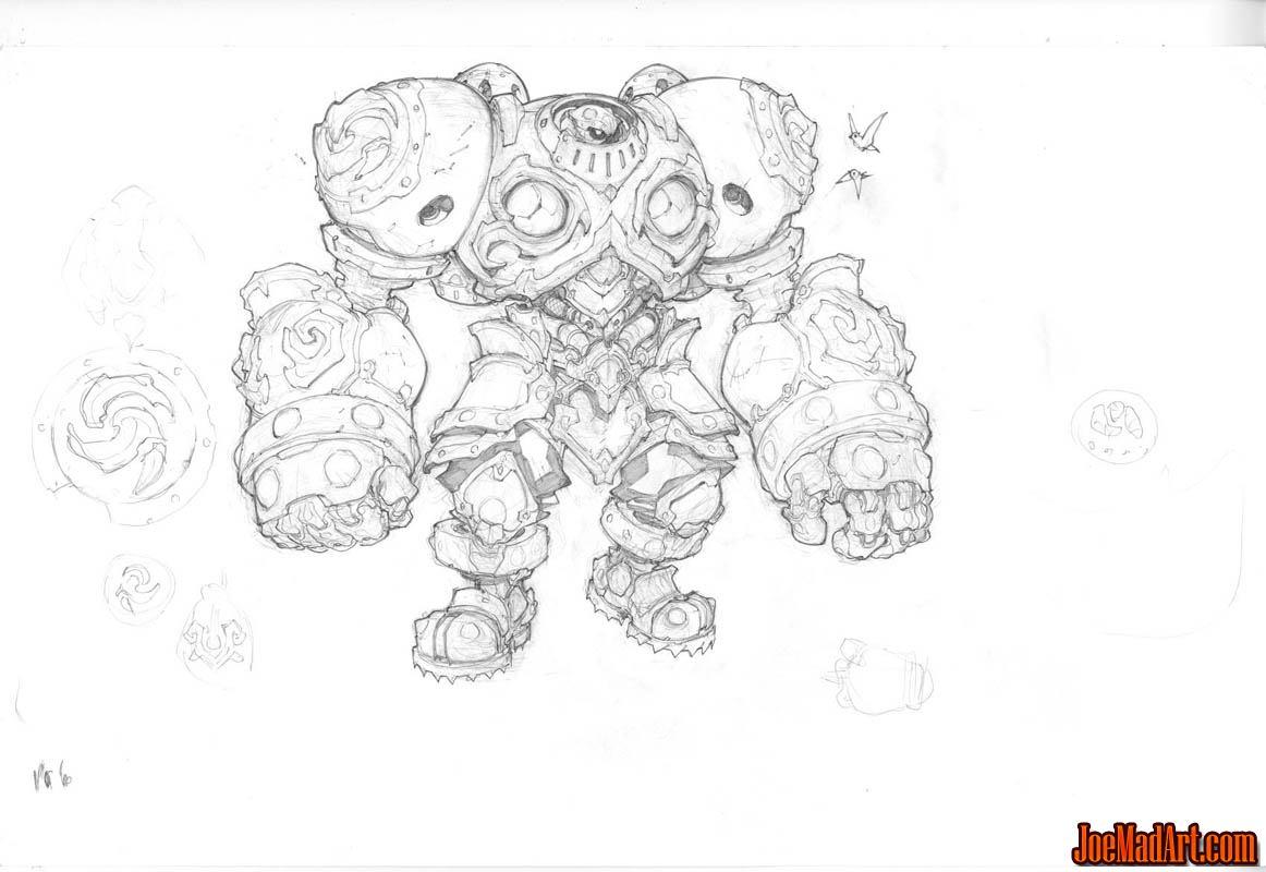 Battle Chasers NightWar Calibretto concept art (Pencil)