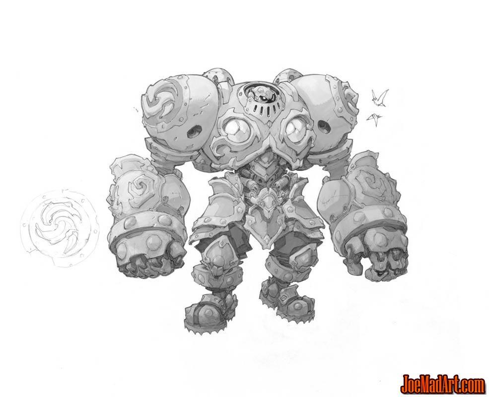 Battle Chasers NightWar Calibretto concept art (Texture)