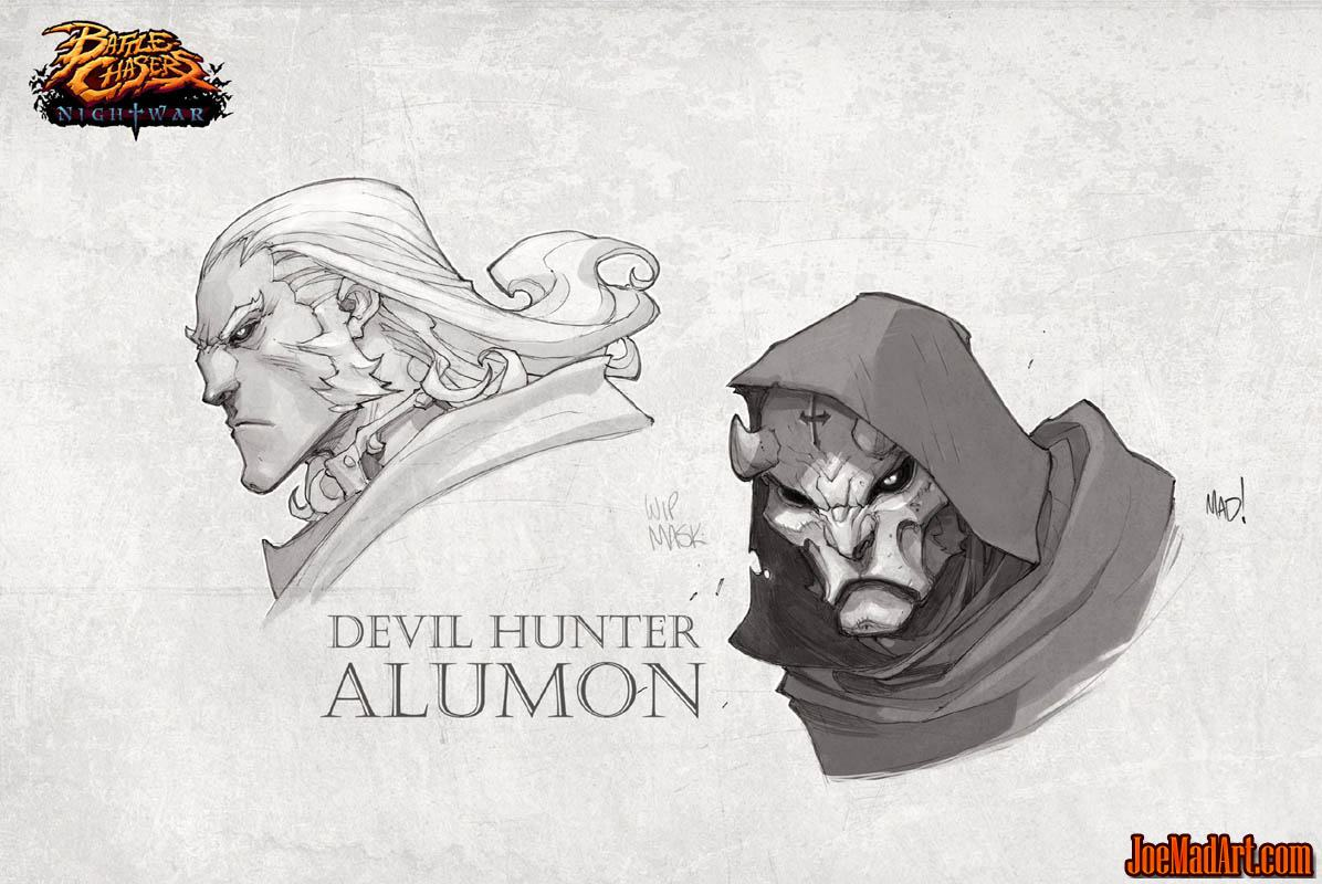 Battle Chasers Nightwar game Devil hunter Alumon (Texture)