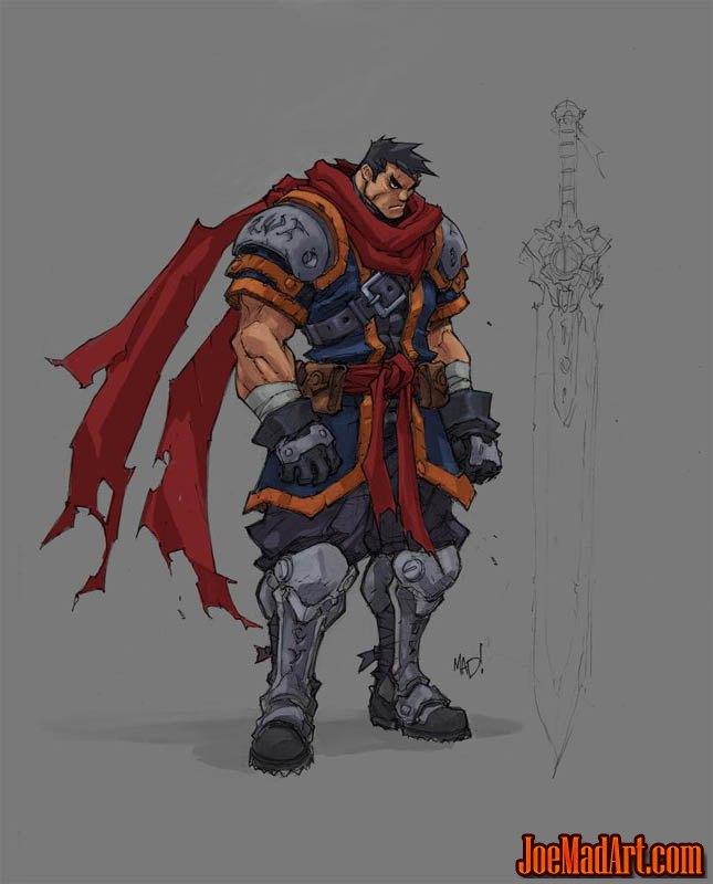 Battle Chasers Nightwar game Garrison 1st sketch (Color)