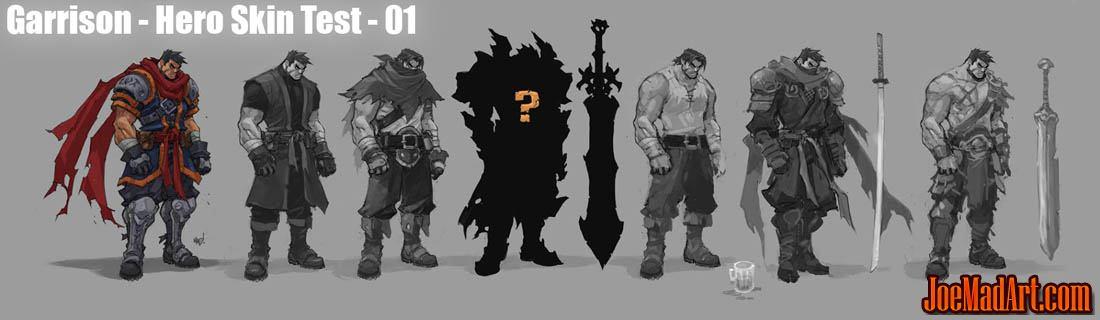 Battle Chasers Nightwar alternate Garrison skins concept art (Texture)