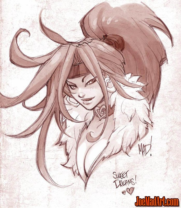 Battle chasers nightwar red monika quick sketch pencil