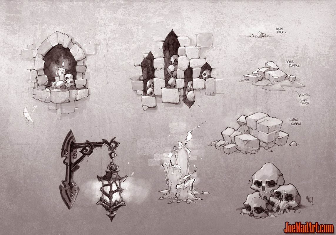 Battle Chasers Nightwar game decor concept art (Texture)