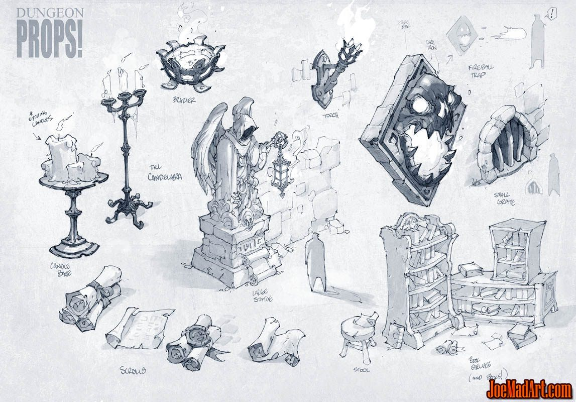 Battle Chasers Nightwar game 1st props concept art (Texture)
