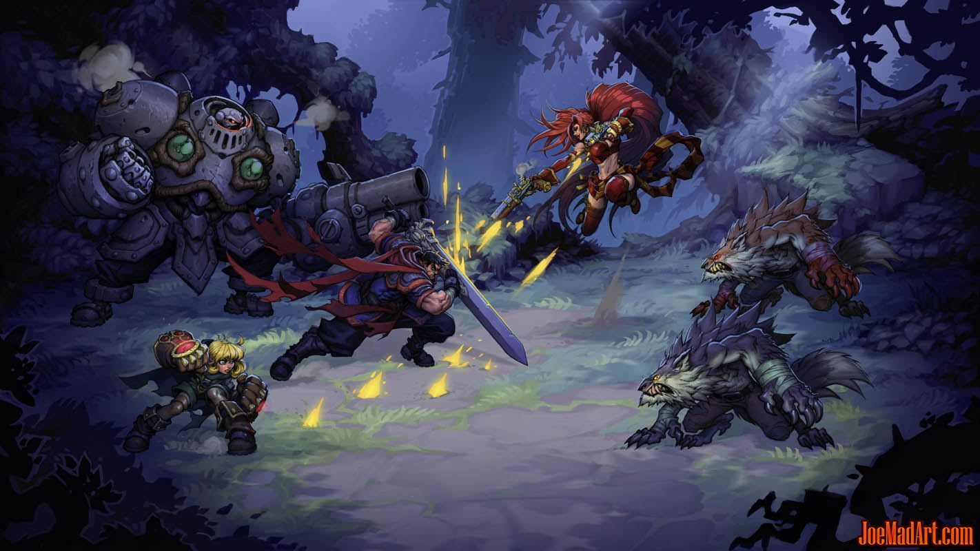 Battle Chasers Nightwar 1st concept art mookup (Color)