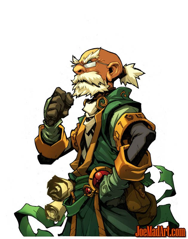 Battle Chasers Nightwar in-game Knolan Portrait (Color)
