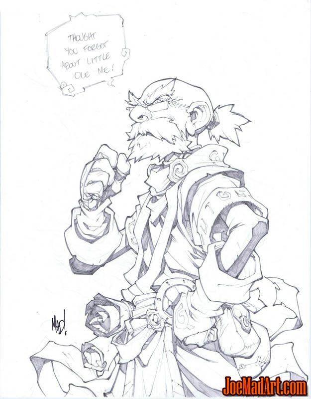Battle Chasers Nightwar in-game Knolan Portrait (Pencil)