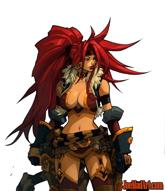 Battle Chasers Nightwar Red Monika game Portrait (Color)