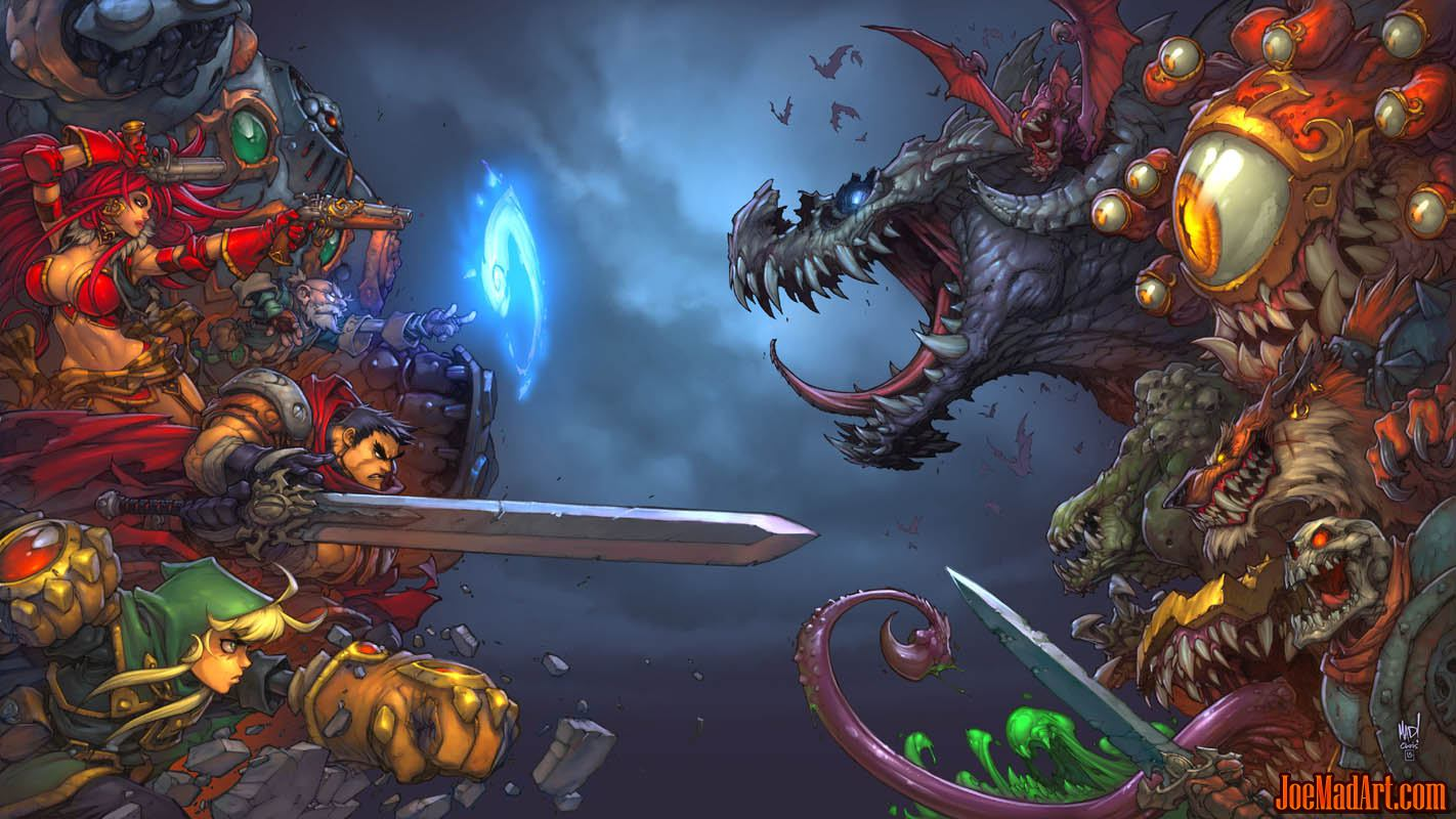 Battle Chasers Nightwar game main promotional art (CoverA)