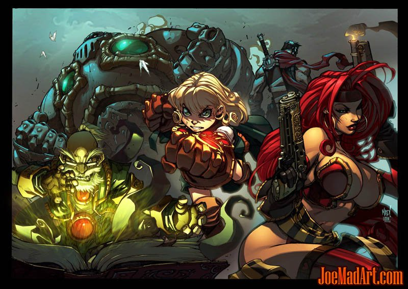 Battle Chasers Anthology Poster (Color)