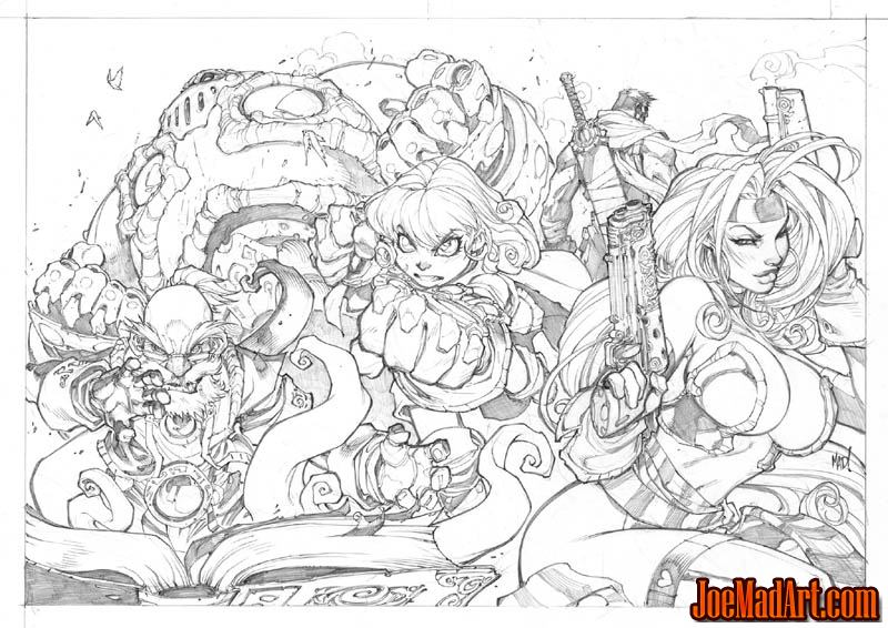 Battle Chasers Anthology Poster (Pencil)