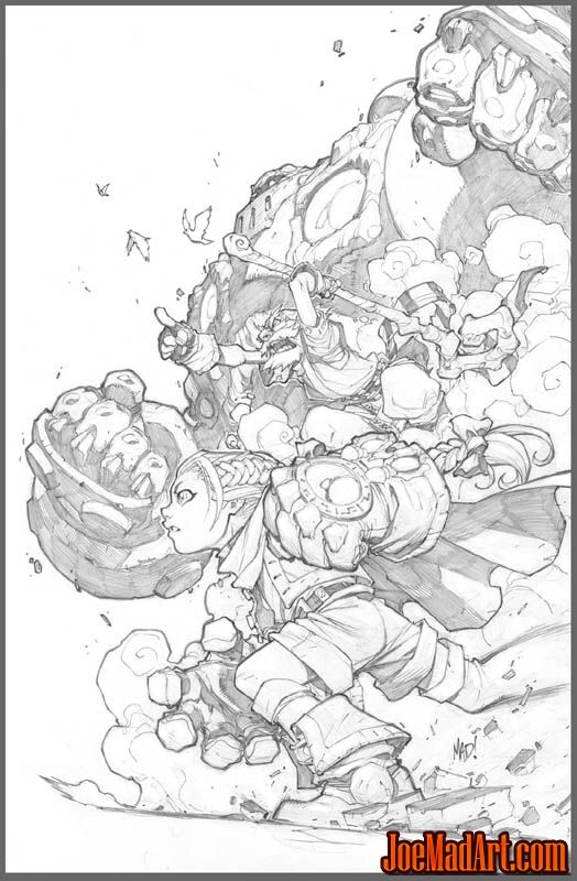 NYCC 2013 Battle Chasers print #2 (Pencil)