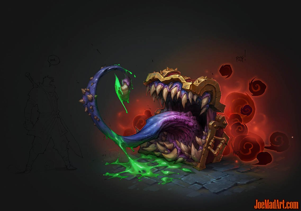 Mimic concept art for Battle Chasers game (Color)
