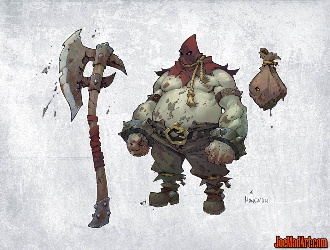 Battle Chasers Nightwar the Hangman concept art (Color)