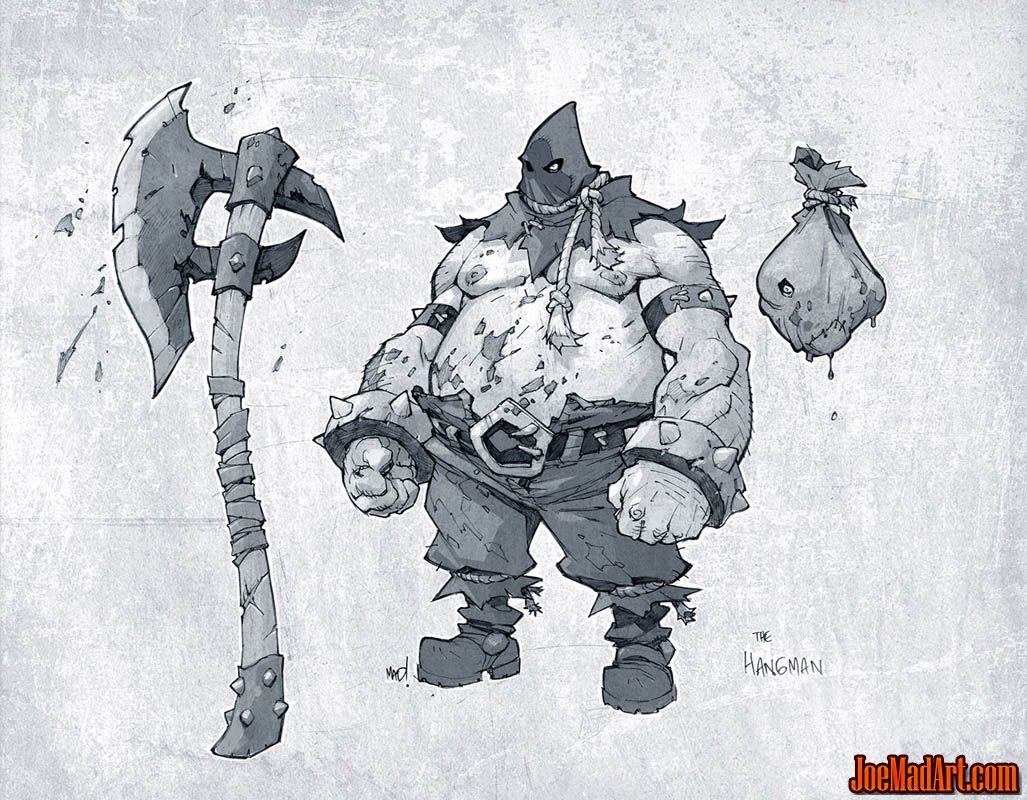 Battle Chasers Nightwar the Hangman concept art (Texture)