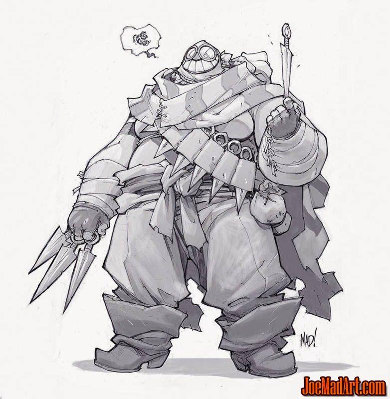 Cannon Busters Mumbles concept art (Pencil)