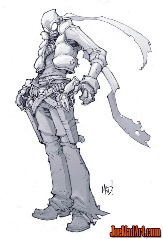 Cannon Busters Seezar early concept art (Pencil)