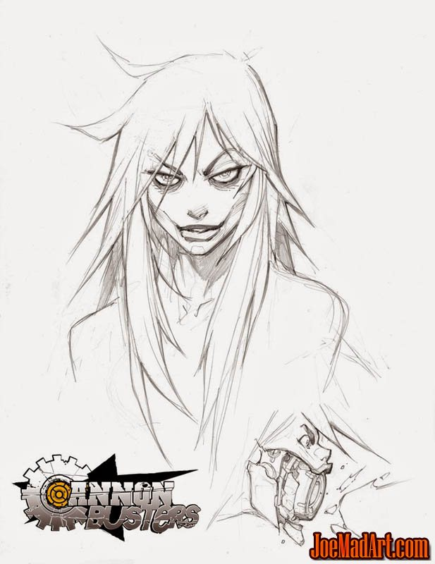 Cannon Busters Tiephoyd portrait concept art (Pencil)