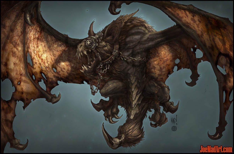 Darksiders monster Duskwing bat concept art (Color)