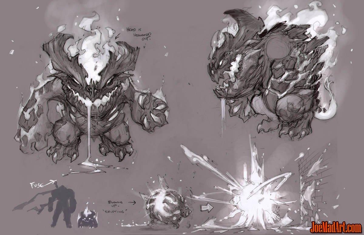 Darksiders Fleamag monster concept art (unused) (Texture)