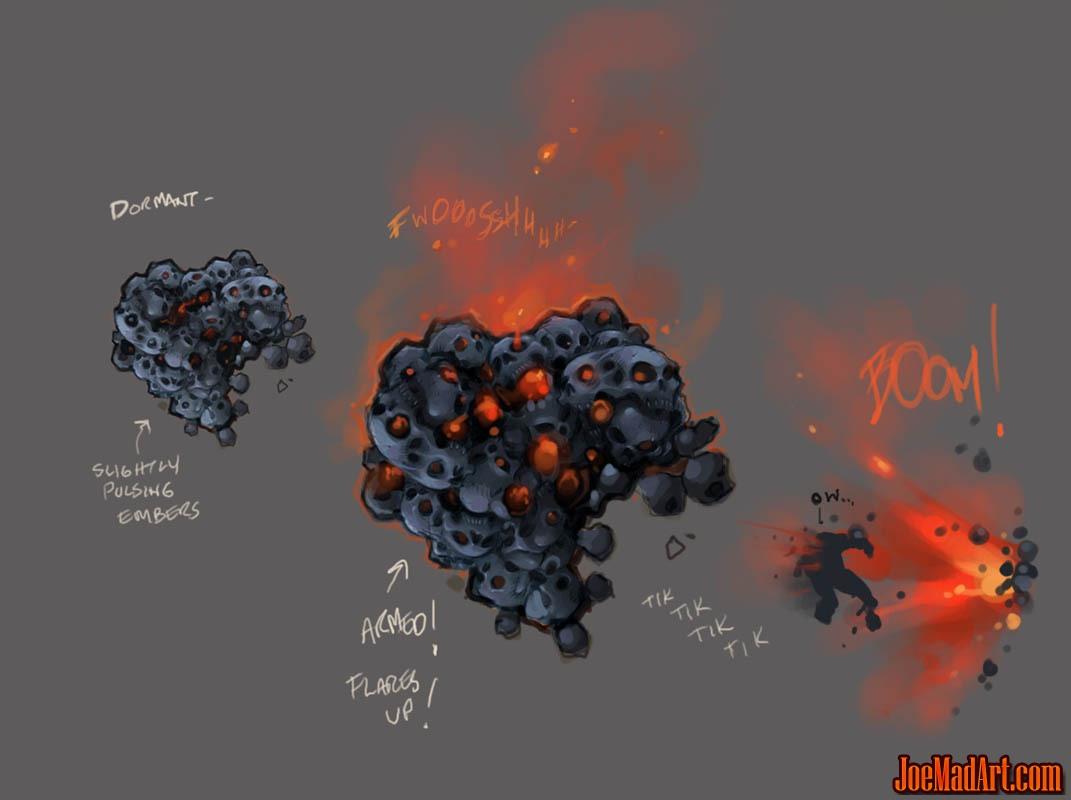 Darksiders Wallclimb Detonator monster concept art (Color)