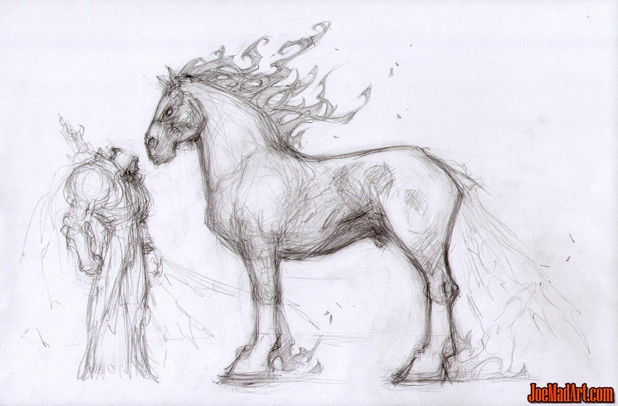 Darksiders War & Ruin early concept art (Pencil)