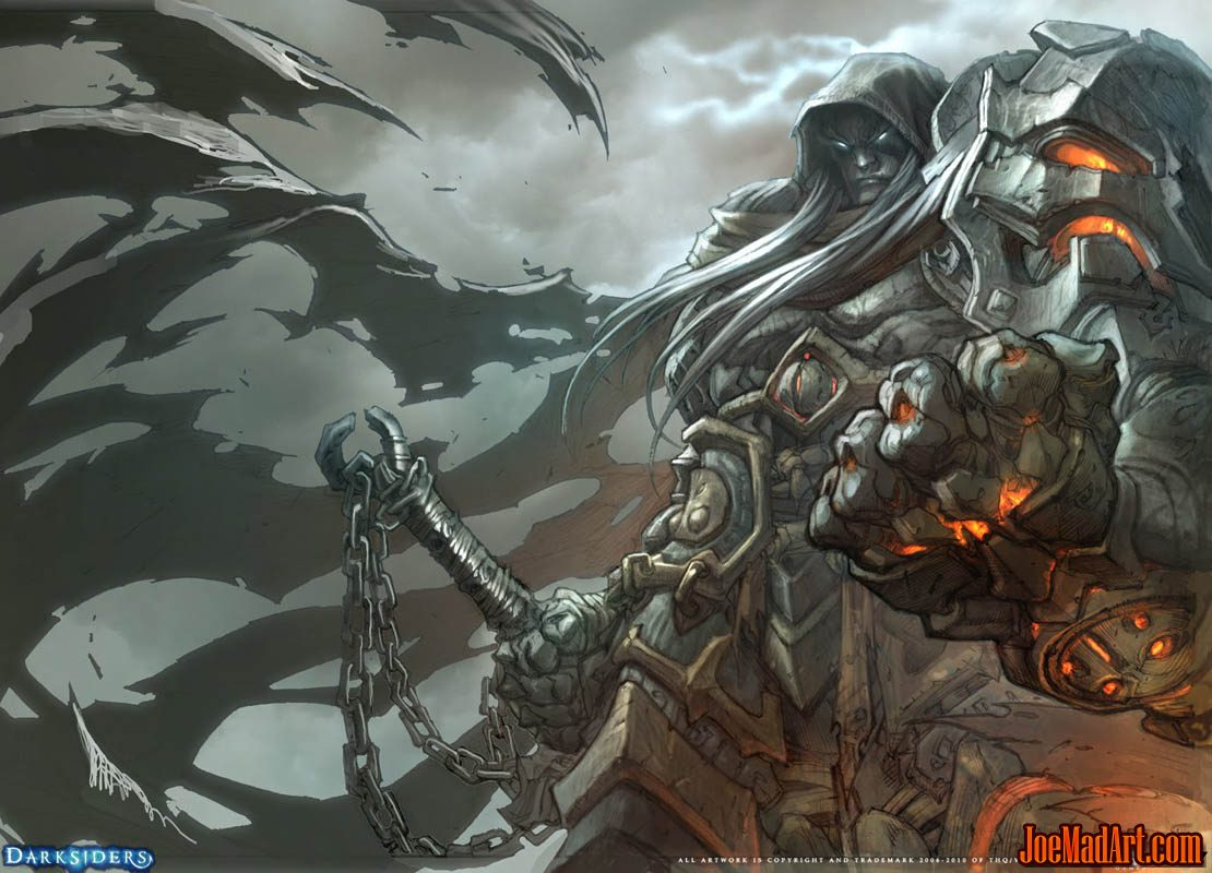 Darksiders War Wallpaper By: Joemadart.com: Darksiders: War Promo Art / Wallpaper
